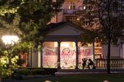 Der Frauenpavillon im Stadtpark - im Bild hergerichtet für die Museumsnacht 2014. (Bild: Hanspeter Schiess - 6. September 2014)