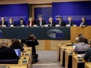 Zur rechtspopulistischen Fraktion im EU-Parlament gehören unter anderem die deutsche AfD, die italienische Lega, das französische Rassemblement National und die österreichische FPÖ. (Bild: Keystone/EPA/STEPHANIE LECOCQ)