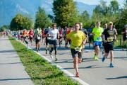 Die Affiche LGT Alpin Marathon lockt jeweils einen grosse Anzahl Läufer aus dem In- und Ausland an. (Bild: Günther Büchel)