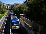 Die Metro von Lausanne ist eine Erfolgsgeschichte. Um die stetig steigende Passagierzahl bewältigen zu können, soll das Streckennetz bis 2027 ausgebaut werden. (Bild: KEYSTONE/JEAN-CHRISTOPHE BOTT)