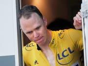 Chris Froome wollte sich bei hohem Tempo die Nase putzen und verunfallte dabei schwer (Bild: KEYSTONE/EPA/YOAN VALAT)