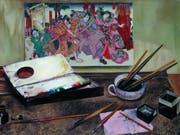 Das Gemälde «Japanischer Holzschnitt» (um 1930) von Aimé Barraud ist Teil der Ausstellung «Silences» im Musée Rath in Genf. Die Schau dauert vom 14. Juni bis 27. Oktober 2019. (Bild: Musée des beaux-arts de La Chaux-de-Fonds / P. Bohrer)