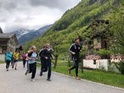Die Isenthaler trieben im Mai gemeinsam Sport. (Bild: PD)