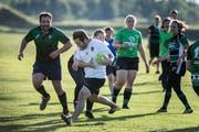 Fokussiert im Training des Rugbyclub StGallen: Am Bishopscup nehmen Frauen- und Männerteams teil. (Bild: Michel Canonica, 13.Juni 2019)