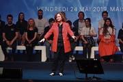 Sorgt mit umstrittenen Äusserungen für Ärger: Macrons Spitzenkandidatin Nathalie Loiseau. (Bild: Christophe Petit Tesson/EPA, Paris, 24. Mai 2019)
