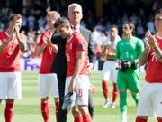 Das Schweizer Nationalteam büsst nach den Niederlagen am Finalturnier der Nations League in der Weltrangliste einen Platz ein (Bild: KEYSTONE/JEAN-CHRISTOPHE BOTT)