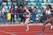 Aylin Rudolph (l.) ist in Hochform und sprintet so schnell wie noch nie. (Bild: Mario Hidber)