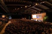 Voller Saal: 2900 Gäste folgten der Einladung der TKB in die Bodensee-Arena