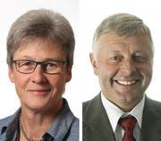 Regula Heuberger Häfliger (links) und Erwin Dahinden treten per 31. August 2020 aus dem Gemeinderat Schüpfheim zurück.