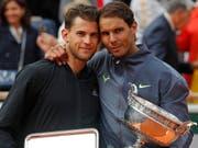 Im French-Open-Final Gegner, beim Laver Cup im September in Genf Teamkollegen: Dominic Thiem (li.) und Rafael Nadal (Bild: KEYSTONE/AP/MICHEL EULER)