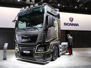 VW will beim Börsengang der Nutzfahrzeug-Sparte Traton bis zu 1,9 Mrd Euro erlösen. (Bild: KEYSTONE/EPA/HAYOUNG JEON)