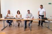 Der aktuelle Vorstand (von links): Jürg Müller, Gabriela Hasler, Daniel Knecht und Roger Dietschweiler.