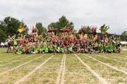 Unterwegs mit der Jugendabteilung JuTu des STV Sins und den Geräteturnerinnen vom GeTu Sins-Oberrüti am Eidgenössischen Turnfest. (Bild: Severin Bigler)