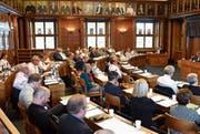 Der Kantonsrat wird am Montag erstmals in neuer Zusammensetzung und mit einer anderen Sitzordnung tagen. (Bild: Jesko Calderara)