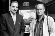 Als oberster Lehrer war Beat Zemp Ansprechpartner für Politiker, Künstler und Schriftsteller. Hier besucht er gemeinsam mit Franz Hohler 1994 eine Literatur-Preisverleihung. (Bild: Keystone)