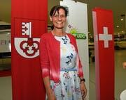 Die Nationalratskandidatin der SVP Obwalden: Monika Rüegger. (Bild: Robert Hess, Alpnach, 14. Juni 2019)