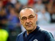Verlässt Chelsea nach nur einem Jahr und wird Trainer bei Juventus Turin: Maurizio Sarri (Bild: KEYSTONE/EPA/MAXIM SHIPENKOV)