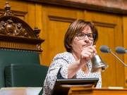Für die Tessiner Sozialdemokraten soll im Oktober endlich die Stunde für einen Sitz im Ständerat schlagen. Schaffen soll diesen historischen Schritt die amtierende Nationalratspräsidentin Marina Carobbio. (Bild: KEYSTONE/ALESSANDRO DELLA VALLE)
