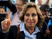 Die Mitte-Links-Kandidatin Sandra Torres hat gute Chancen, erste Präsidentin von Guatemala zu werden. (Bild: KEYSTONE/AP/OLIVER DE ROS)