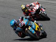 Der Spanier Alex Marquez ist der Mann der Stunde in der Moto2: dritter Sieg in Serie und neuer WM-Leader (Bild: KEYSTONE/AP/ANTONIO CALANNI)