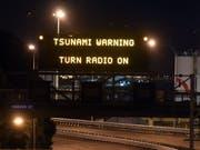 Nach dem Erdbeben im Pazifik am Sonntag gab Neuseeland eine Tsunami-Warnung heraus. (Bild: KEYSTONE/EPA SNPA/ROSS SETFORD)