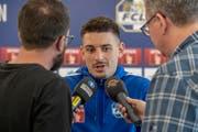 Wieder im Fokus der Medien: FCL-Verteidiger Stefan Knezevic. (Bild: Urs Flüeler/Keystone (Luzern, 17. Juni 2019))