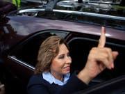 Könnte die erste Frau im Präsidentenamt von Guatemala werden: die Sozialdemokratin Sandra Torres. (Bild: KEYSTONE/AP/OLIVER DE ROS)