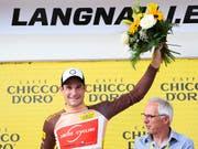 Claudio Imhof sicherte sich am Sonntag an der Tour de Suisse in Langnau das Trikot des Bergpreis-Leaders. Auf dem Weg nach Murten will es der Thurgauer in der 3. Etappe verteidigen (Bild: KEYSTONE/GIAN EHRENZELLER)