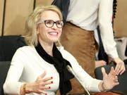 Die Liechtensteiner Aussenministerin Aurelia Frick (Archivaufnahme). (Bild: KEYSTONE/EPA/OLIVIER HOSLET)