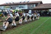 Die Seilzieher der U23 aus Stans-Oberdorf gaben alles und holten sich die Goldmedaille. (Bild: pd)