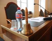 Der Platz des Kantonsratspräsidenten im Ratssaal. (Bild: Markus von Rotz, Sarnen, 29. Juni 2018)