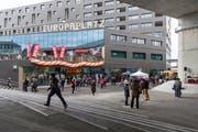 Das Haus der Religionen am Berner Europaplatz. (Bild: KEYSTONE/Peter Klaunzer)