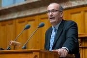 Bauernpräsident Markus Ritter lehnt die Trinkwasserinitiative ab. (KEYSTONE/Peter Klaunzer)