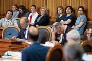 Mehrere Nationalrätinnen verfolgten die Debatte im Ständerat auf den Zuschauerrängen. (Bild: Peter Klaunzer/Keystone (Bern, 19. Juni 2019))