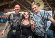 Zufriedene Besucher: Seidlein, Dani und Casi. (Bild: Andrea Stalder)