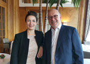 Bekleiden neue Positionen in der Führungsriege des Art Deco Hotels Montana: Neo-Direktorin Miriam Böger und Karl Eugster. (Bild: PD)