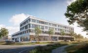 Visualisierung des künftigen Hauptsitzes von Connect Com in Rothenburg. (Bild: PD)