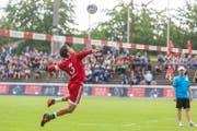 Captain Raphael Schlattinger führte die Schweizer Nationalmannschaft an (Bild: Fabio Baranzini / Swiss Faustball, Aarau, 23. Juni 2019)