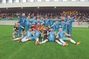 A-Junioren von Zug 94 sind Innerschweizer Cupsieger.(Bild: Michael Wyss, Kriens, 20. Juni 2019)
