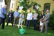 Ein Lindenbaum für Robert Küng (ganz rechts). (Bild: Nadia Schärli)