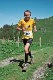 Junior Tobias Renggli aus Buchrain verliert nur 1:29 Minuten auf den Tagessieger Julian Hodel aus dem zugerischen Oberwil. (Bilder: Urs Hanhart, Bannalp, 23. Juni 2019)