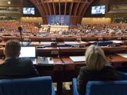 Plenarsaal des Europarates in Strassburg. (Bild: KEYSTONE/LUKAS LEHMANN)