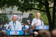 Der frühere US-Vizepräsident Joe Biden, der 2020 für die Demokraten zum Präsidenten gewählt werden will, bei einem Wahlkampfauftritt. (Bild: Michelle Gustafson/Bloomberg, Philadelphia, 18. Mai 2019)