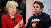 Gemischtes Doppel für die SPD: Gesine Schwan und Juso-Chef Kevin Kühnert. (Bild: Bilder: Getty/EPA)