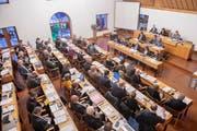 Blick in den Saal des St.Galler Stadtparlaments. (Bild: Urs Bucher - 15. Januar 2019)