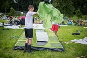 Am meisten Zelte im Sittertobel gab's 2008, am wenigsten 2018 – bis jetzt. (Bild: Benjamin Manser)