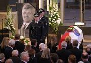 Die Beerdigung von Walter Lübcke am 13. Juni in Kassel. (Bild: Getty)