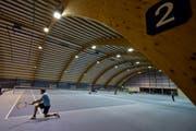 Die Tennishalle Gründenmoos. (Bild: Benjamin Manser)