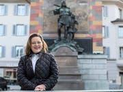 Will von Altdorf nach Bern wechseln: Die Urner Regierungsrätin Heidi Z'graggen soll der CVP den Ständeratssitz sichern. (Bild: KEYSTONE/ALEXANDRA WEY)