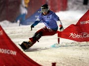 Bestresultat unter Flutlicht: Im Januar fuhr Nicole Baumgartner in Moskau auf den 8. Platz (Bild: KEYSTONE/EPA/SERGEI ILNITSKY)